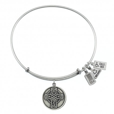 201 Celtic Cross Charm Bangle