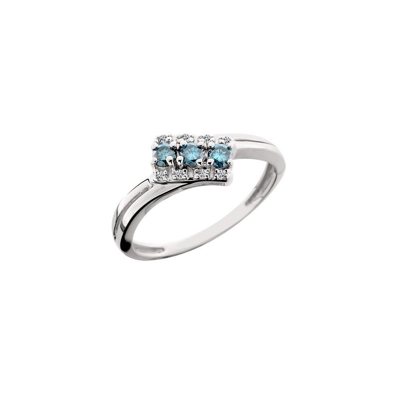 Ladies Three Blue Diamond Ring - Francis Jewelers