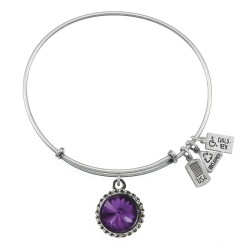 102 February Amethyst Birthstone Bracelet