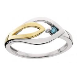 Blue Diamond Ladies Ring