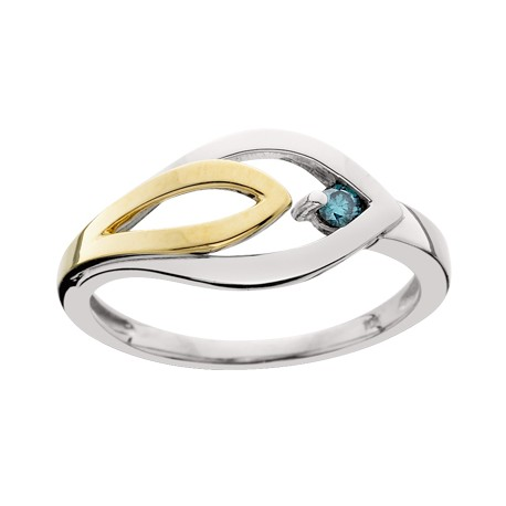 Blue Diamond Ladies Ring