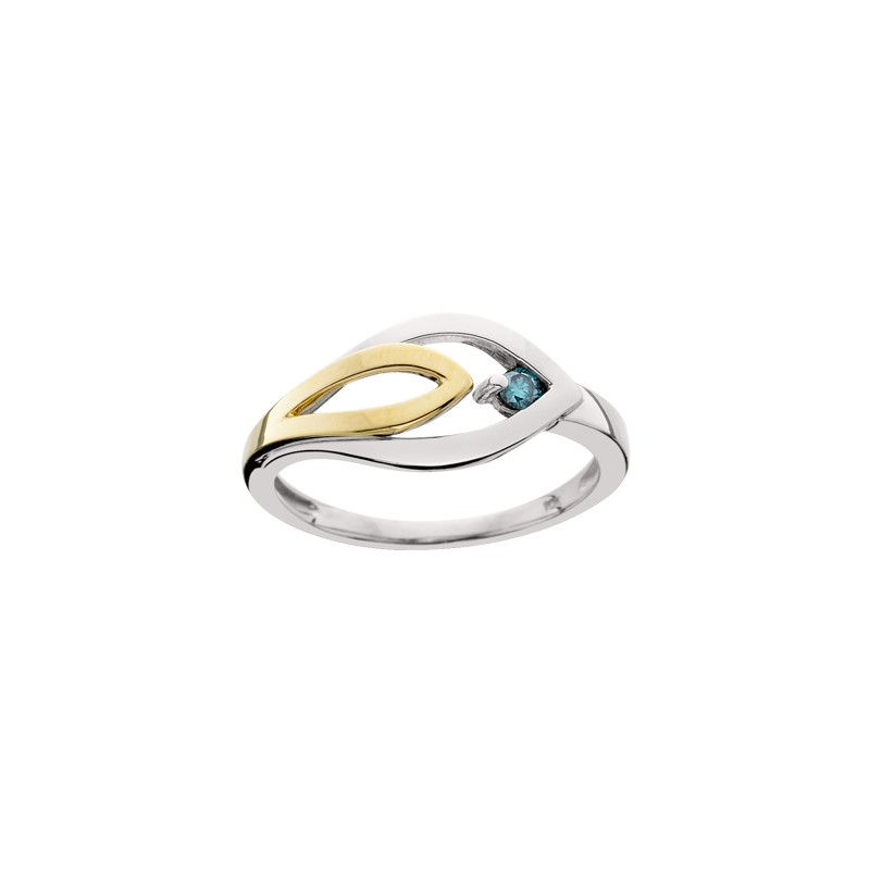 Blue Diamond Ladies Ring - Francis Jewelers