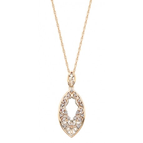 C4 front diamond necklace