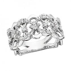 C7 14k White gold 'Royale' Ring .85ctw