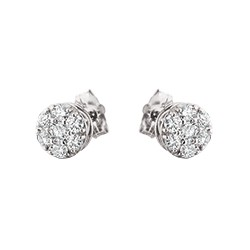 B33 diamond stud earrings 1/4ct
