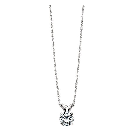 A15w 14k white gold 120ctw diamond solitaire necklace francis a15w 14k white gold 120ctw diamond solitaire necklace aloadofball Image collections