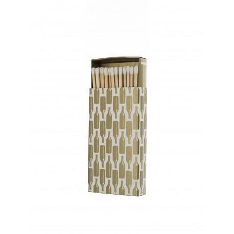 """Rewind Candles """"Gold Bottle Matchbox"""""""