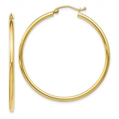 TA06 Leslies 10K Polished Hinged Hoop Earrings