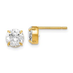 90A Leslies 14K Cz Stud-6.0mm Earrings