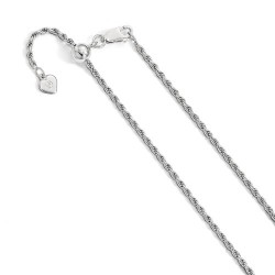 FC26-22 Leslie Sterling Silver 2 mm Adjustable Rope Chain