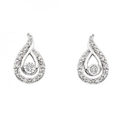 D7 14kw Loves Path dia earrings .12tw, regular $675