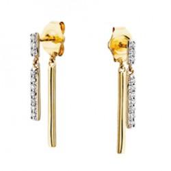 D24 Front and Back earrings 10k white gold .10tdw Reg$495.00