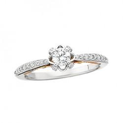 D32 14kw Engagement Ring .23tw + 1/4ct ctr, regular $2250