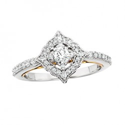 D34 14wy Halo Engagement Ring .35tw + .20ctr, regular $2700