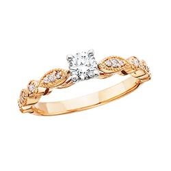 C52 14pw Engagement Ring .14tw +1/3 ctr, regular $2700