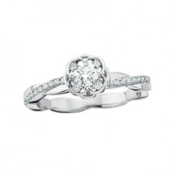 D36 14kw Halo Engagement Ring Reg $2100.00 .15tw + 1/4 ctr