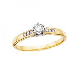 D38 10tt Engagement Ring .06tw + .18ct ctr, regular $1350
