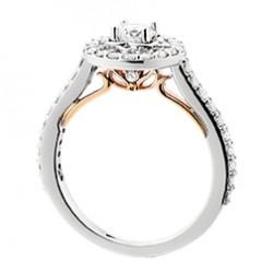 D30 14wp Halo Engagement Ring .60tw + .40ctr, regular $4500