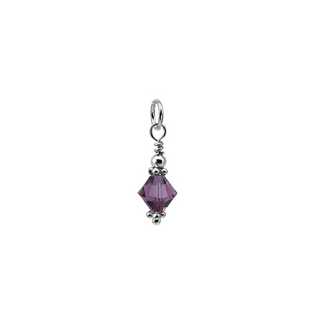 D58 SS swarovski cone charm, All Months Available