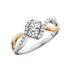 C19 Side by Side 14k gold .75tdw Reg $3000 diamond ring.
